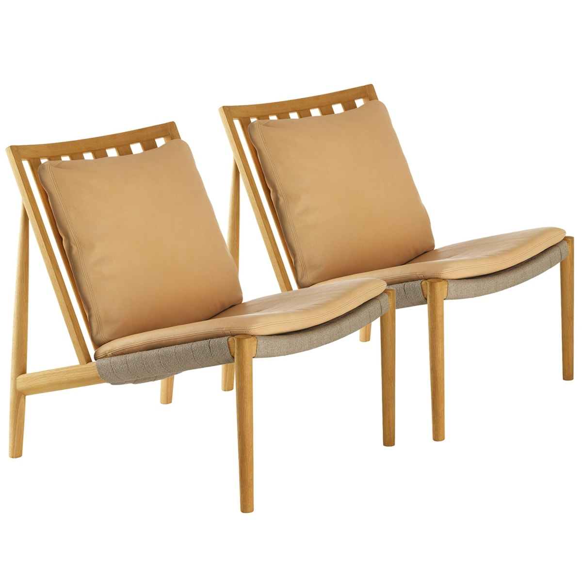 Duo Easy chair Ek olja Skinn natur