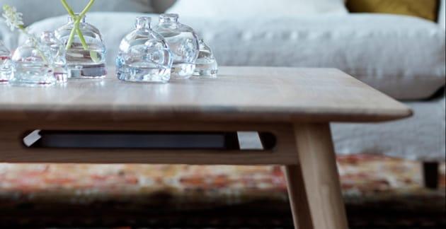 Kvadrat soffbord Ek 85 cm Norrgavel