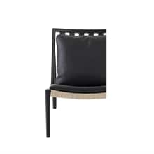 Klädsel-Easy-Chair-Nötskinn-svart
