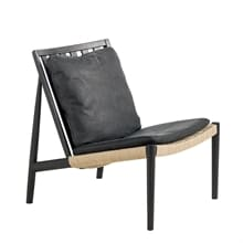 Easy Chair Bets svart Skinn Dunes svart